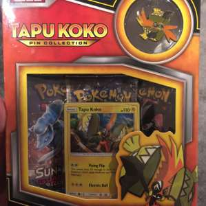 Pokemon tapu Koko pin collection reduced to clear - £8.48 @ Tesco instore (Broughton Park)
