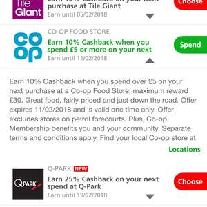 10% cashback at co-op with Santander card when spending £5.