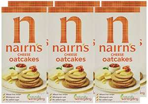 Nairn's Cheese Oatcakes 200 g (Pack of 6) Amazon add-on item - £1.99