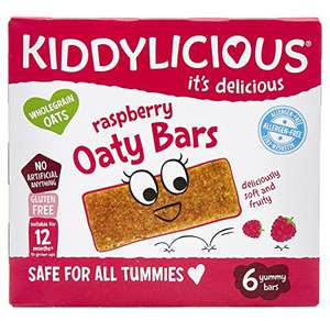 Kiddylicious Raspberry Oaty Bars Pack of 6 (maybe 6 boxes of 6) Amazon add on £2.13