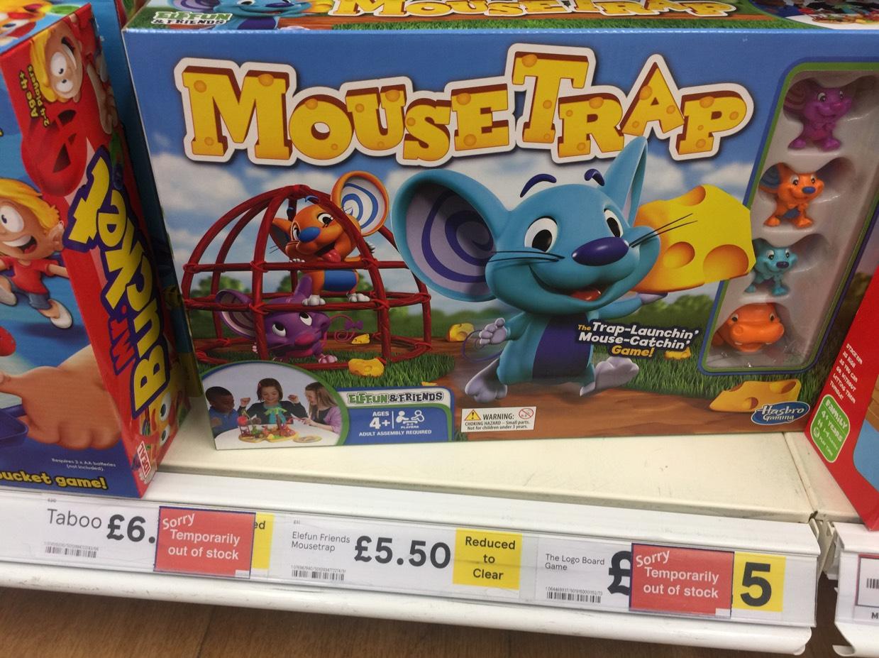 Hasbro elefun mouse trap game Tesco instore £5.50
