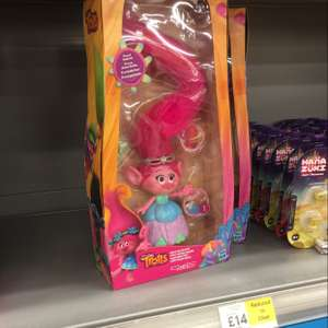 Trolls poppy hair in the air instore Tesco £14