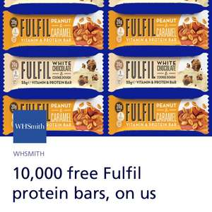 FREE FULFIL protein bar @ WHSMITHS via O2 priority app from 11am