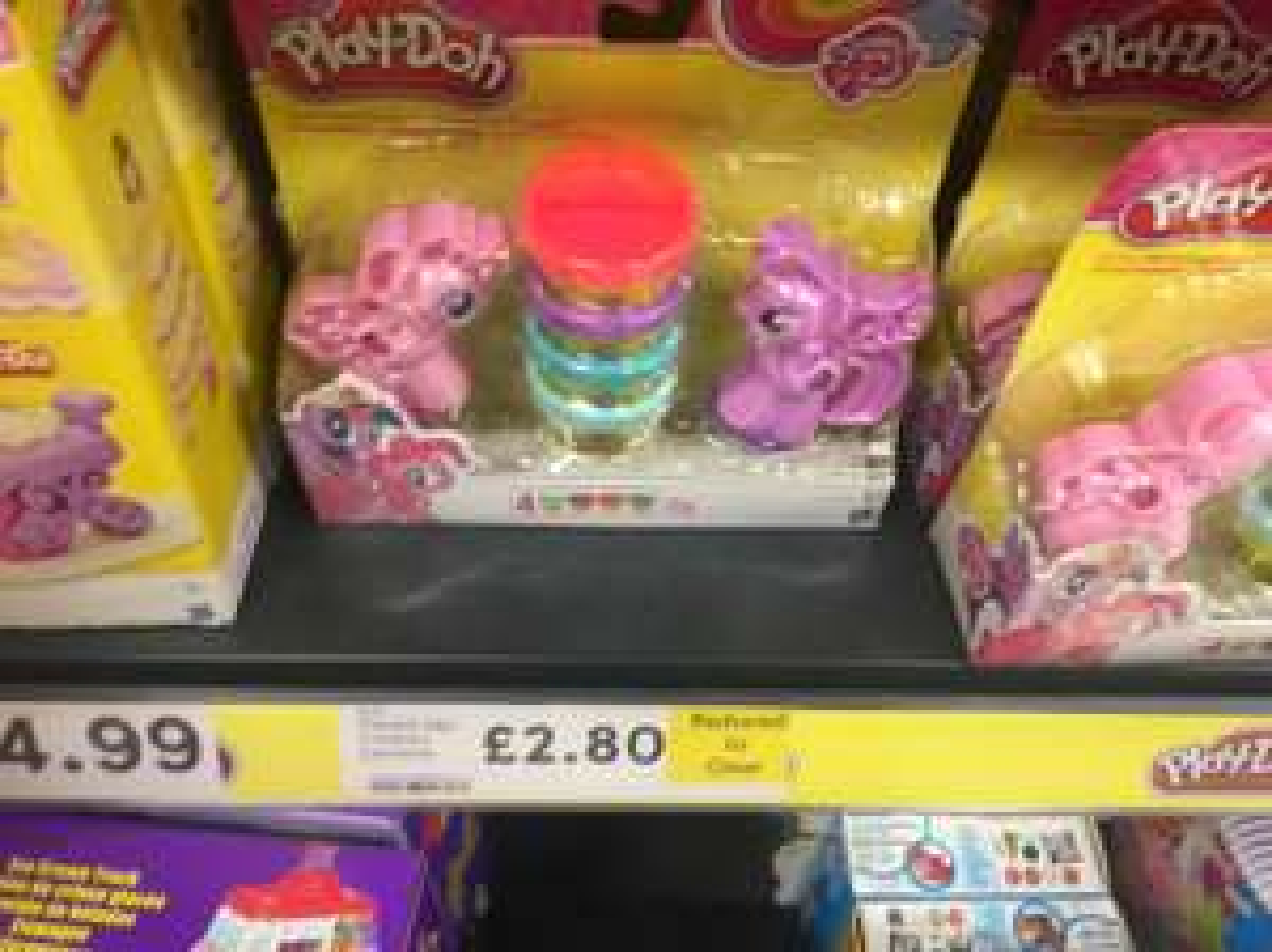 Play doh my little pony instore Tesco £2.80 bidston