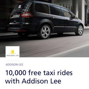 FREE ADDISON LEE taxi ride via O2 priority app