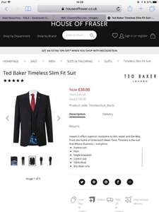 Ted baker suits - £30 Trousers £60 Jacket at HoF