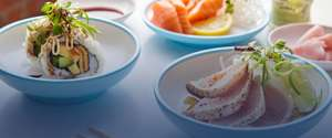 Free Blue Plate Yo Sushi on orders over £10
