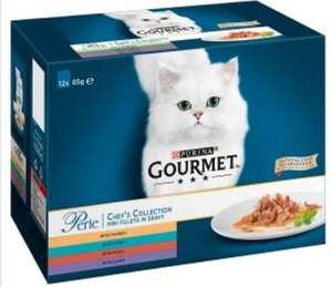 Gourmet Perle cat food box of 12 pouches for £2 instore @ Iceland