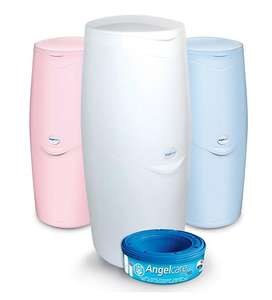 Angelcare Nappy Disposal System Pink, Blue or White Now £7.50 C&C @ Mothercare