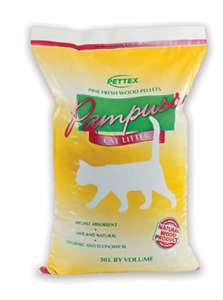 Pettex Pampuss Woodbase Cat Litter 30 Litre £5.99 (Add on item) @ Amazon