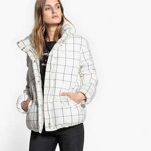Women's Checked Padded Puffer Jacket in Ecru or Black was £79 now £25.28 / Padded Printed Jacket was £39 now £12.48 w/code + Free C+C @ La Redoute (more in OP)
