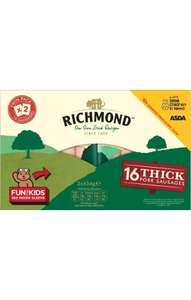 Aldi 16 Thick Richmond sausages £1.99 National Deal
