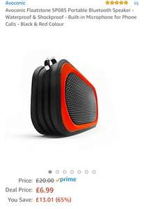 Avoconic Floatstone SP085 Portable Bluetooth Speaker - Waterproof & Shockproof £6.99 Lightning deal @ Amazon