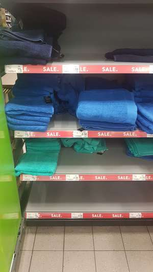 ASDA home sale (Rochdale) Towels from 75p