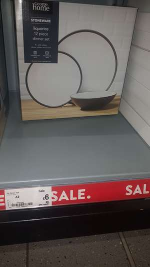ASDA 12 piece dinner sets reduced £6 instore