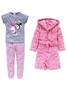 Minions Pink or Yellow Nightwear Set (PJ's + Dressing Gown) ages 5 -10yrs now £8.99 C+C @ Argos (more in OP in Minions Fluffy Unicorn Onesie £8.99)