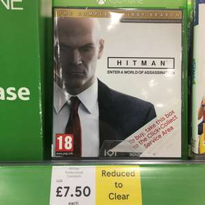 Hitman complete first season Xbox one £7.50 in store Tesco