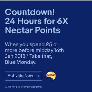 Ebay 6x nectar points when you spend £5 or more (invite only)
