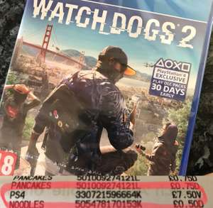 Watchdogs 2 £7.50 for XB1 and PS4 at Asda instore