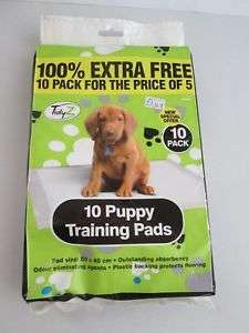 10 X training puppy pads 100% extra free pack. £1 At pound world in-store.