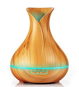 KBAYBO Aroma Diffuser Cool Mist Air Humidifier Ultrasonic Essential Oil Diffuser Wood Grain £17.99 (Prime) / £22.74 (non Prime)  Sold by KBAYBOLIFE and Fulfilled by Amazon - Lightning deal