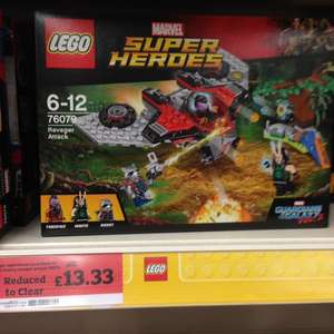 Lego 76079 Guardians of the Galaxy Ravager Attack £13.33 in-store at Sainsburys Cannock