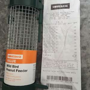 Homebase value range bird feeder only 3p in store at Homebase robroyston.