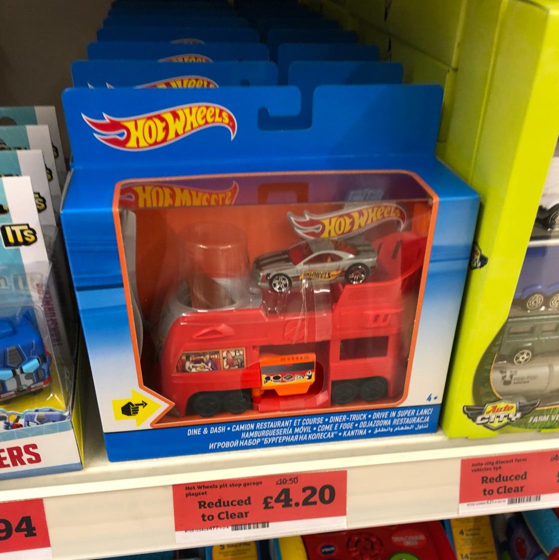 Hot wheels pitstop truck £4.20 sainsbury's instore