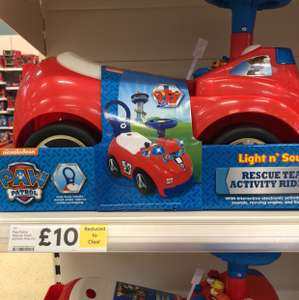 Paw Patrol lights and sounds ride on £10 @ Tesco extra - Corby