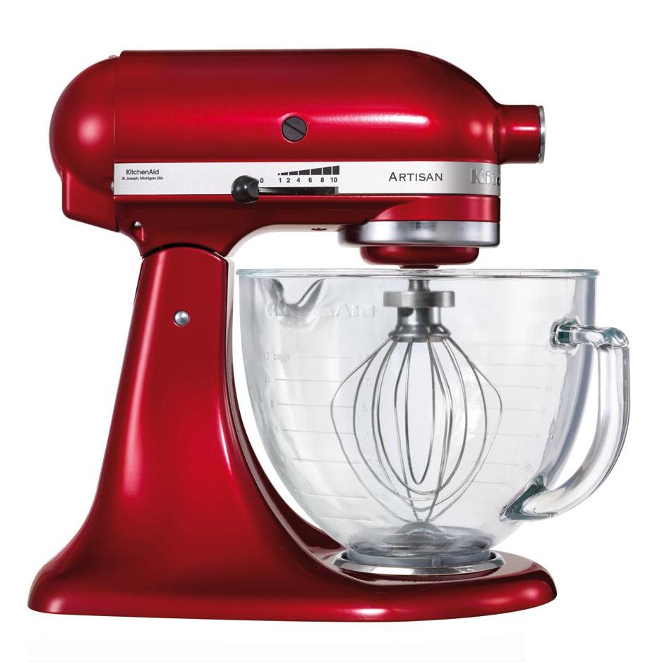 KitchenAid - Artisan' Candy Apple 4.8L Stand Mixer with Glass Bowl KSM156BCA - £299 @ Debenhams (£2 C+C)