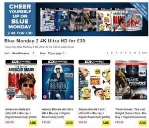 Blue Monday 2 4K Ultra HD for £30 - One day only!! @ Zoom