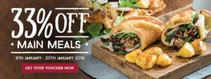 33% off Toby Carvery until 20th Jan new menu inc Yorkshire wraps / Freak shakes