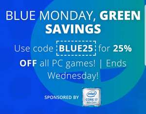 Greenmangaming 25% off all PC games