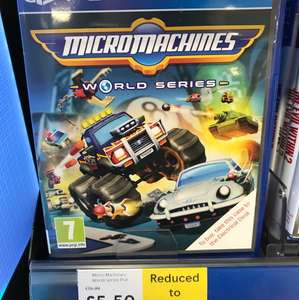 PS4 Micro Machines £5.50 instore at Tesco extra - Chichester