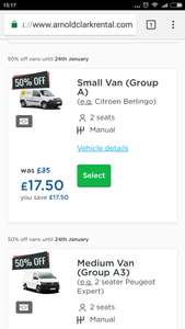 24hrs Van Rental from £17.50 @ Arnold Clark