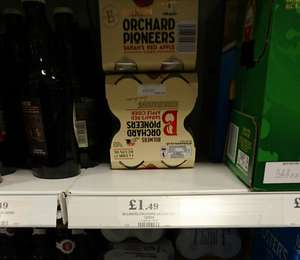Bulmers Orchard pioneers 4 x 330ml Jan dated £1.49 @ home bargains ( prenton)