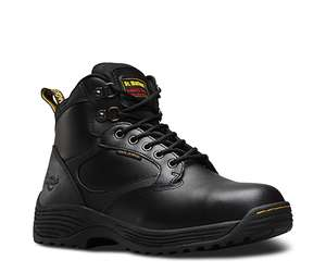 Dr Martens Mens Drax Black Leather Steel Toe Cap Boots £35 - 10% off with code BLUEMON10 - Free delivery on £50 spend @ Dr Martens
