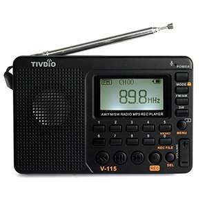 Tivdio V-115 FM AM SW Radio Bass Sound MP3 Player REC Voice Recorder with Sleep timer £18.99 deliverd with Prime Sold by RetevisDirect and Fulfilled by Amazon.
