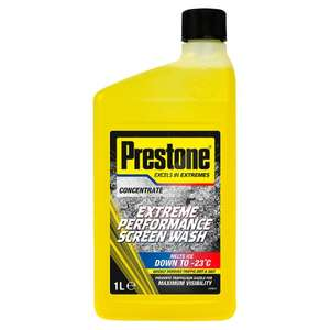 Prestone Value Pack 1L Extreme Performance Screenwash + Rapid De-Icer Spray 88p instore @ Tesco