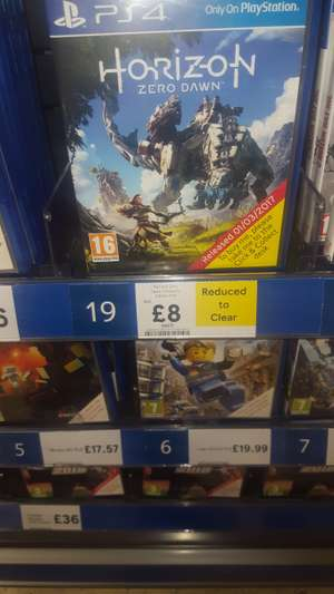 Horizon Zero Dawn Complete Edition - £8 instore @ Tesco