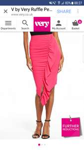 Hot pink ruffle skirt available in size 8-24 £6.60 @ very