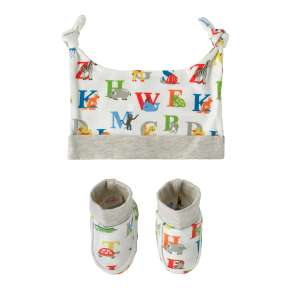 Animal alphabet hat and bootie gift set WAS £12 NOW £6 @ cathkidston,free c+c