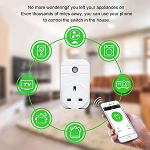 Wi-Fi Smart UK Plug Alexa– Horsky Remote Control Switch Socket Controlling Lights & Appliances from Phone Wireless Working with Amazon Alexa Echo Google Home £12.99 Prime Lightning Deal @ Amazon (Sold by Horsky Official and Fulfilled by Amazon