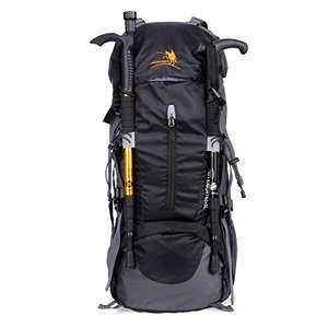 Freeknight 60L Hiking Rucksack - £14.99​ (Prime) / £19.74 (non Prime) / various colours - Sold by ExquizonEU and Fulfilled by Amazon. Lightning Deal
