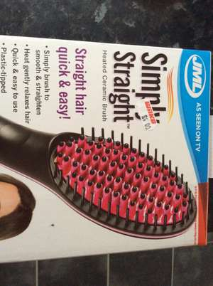 Wilko JML Simply Straight Heated Ceramic Brush £4 instore