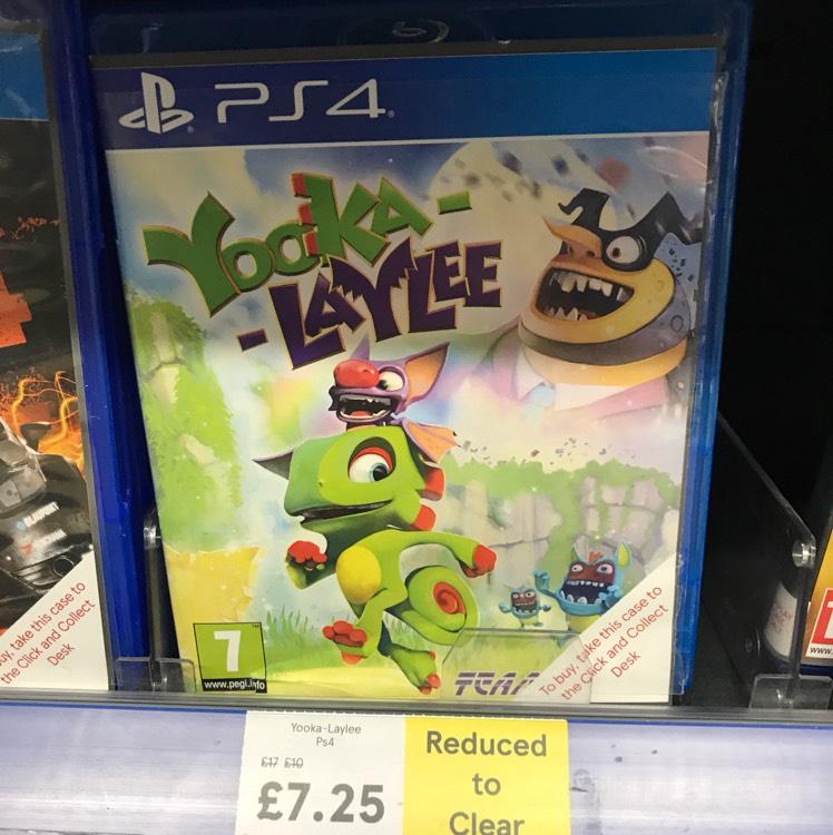 Yooka-Laylee £7.25 instore @ Tesco Bidston Moss