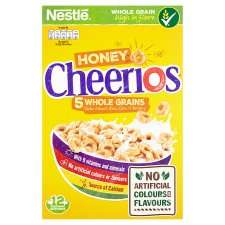 Nestle Cheerios Honey Cereal 375G Better Than Half Price Was £2.50 Now £1.00 from weds 17th jan @ Tesco