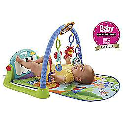 Tesco in store.. Haverfordwest.   Fisher price kick and play gym £6.25