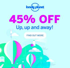 45% off at Lonely Planet Shop