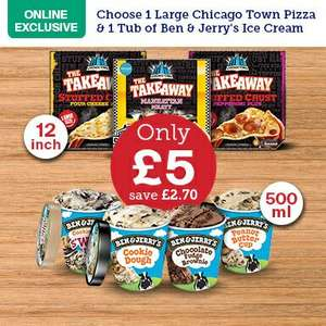 "12"" Pizza and Ice Cream [500ml] offer £5 @ Iceland"